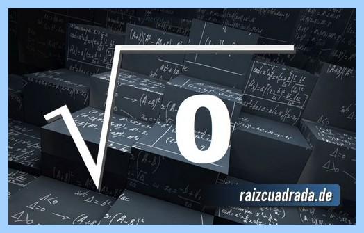 Como se representa habitualmente la operación raíz cuadrada de 0