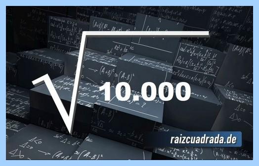 Representación matemáticamente la raíz del número 10000