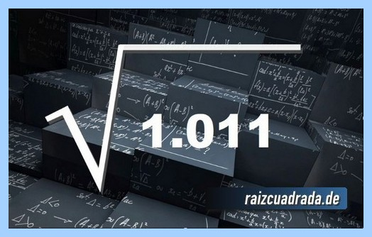 Como se representa matemáticamente la raíz cuadrada del número 1011