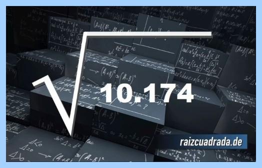 Forma de representar frecuentemente la raíz del número 10174