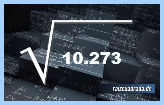 Representación frecuentemente la operación raíz cuadrada de 10273