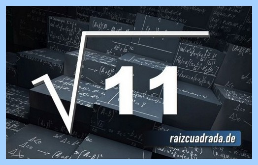 Representación frecuentemente la operación matemática raíz del número 11