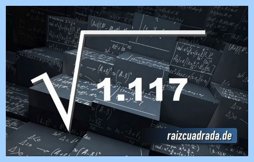 Como se representa comúnmente la operación raíz cuadrada de 1117
