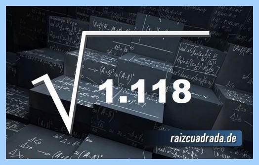 Como se representa frecuentemente la raíz del número 1118