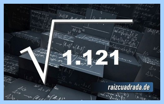 Forma de representar comúnmente la operación matemática raíz cuadrada de 1121