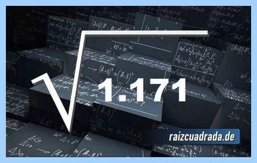 Forma de representar matemáticamente la operación matemática raíz de 1171