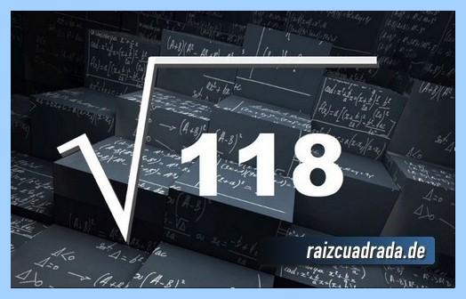 Como se representa habitualmente la raíz del número 118