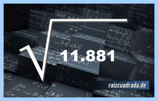 Como se representa comúnmente la raíz del número 11881