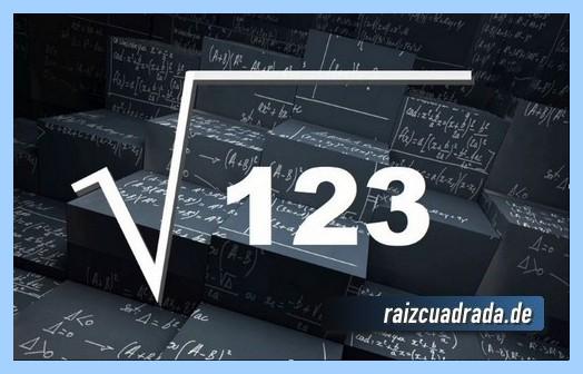Como se representa comúnmente la raíz del número 123