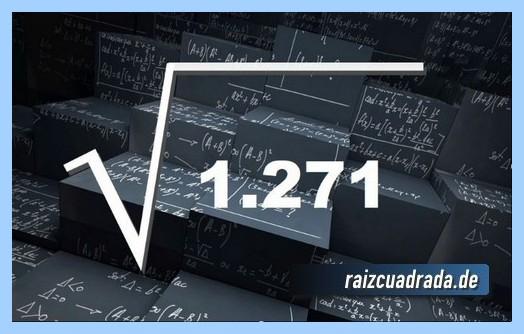 Representación comúnmente la raíz cuadrada del número 1271