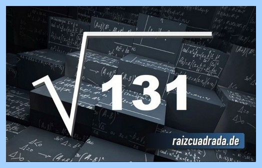 Forma de representar conmúnmente la operación raíz del número 131