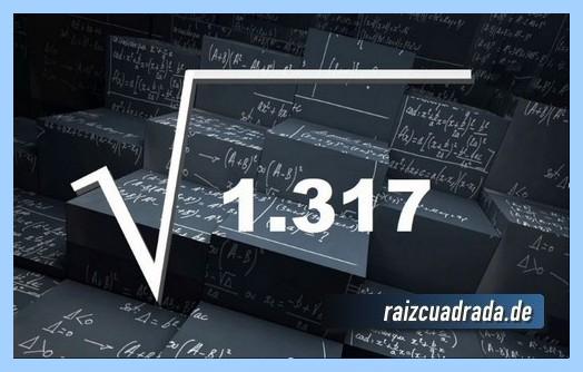 Como se representa frecuentemente la raíz cuadrada de 1317