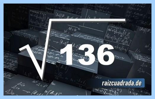 Como se representa frecuentemente la raíz de 136