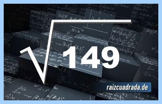 Representación conmúnmente la raíz de 149