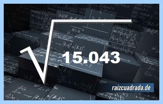 Forma de representar comúnmente la operación matemática raíz de 15043