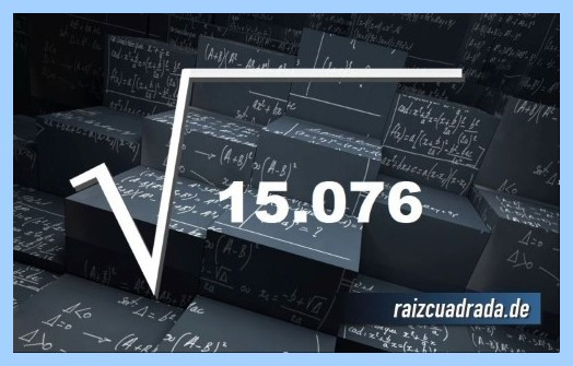 Forma de representar frecuentemente la operación matemática raíz de 15076