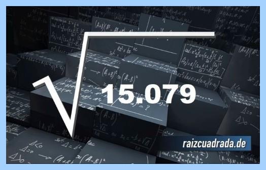 Representación frecuentemente la operación raíz cuadrada de 15079
