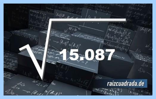 Representación habitualmente la operación matemática raíz cuadrada de 15087