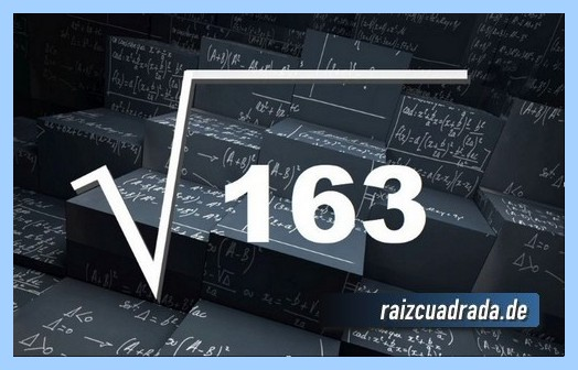 Como se representa frecuentemente la operación raíz del número 163
