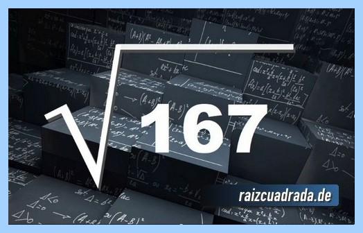 Representación conmúnmente la raíz de 167