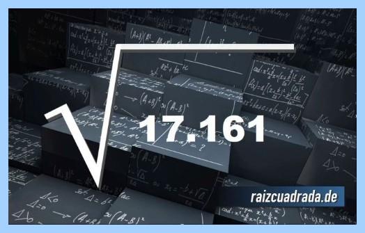 Como se representa frecuentemente la operación matemática raíz del número 17161