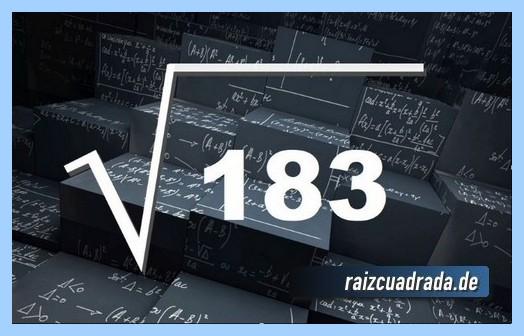Representación habitualmente la operación raíz de 183