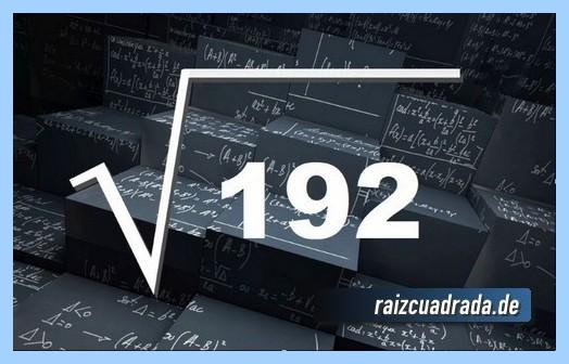 Representación frecuentemente la raíz cuadrada del número 192