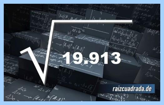 Forma de representar comúnmente la raíz cuadrada del número 19913