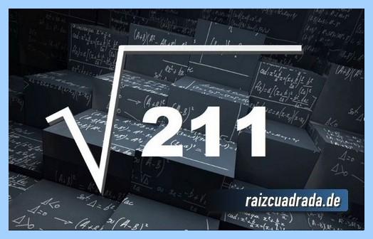 Representación conmúnmente la operación raíz de 211
