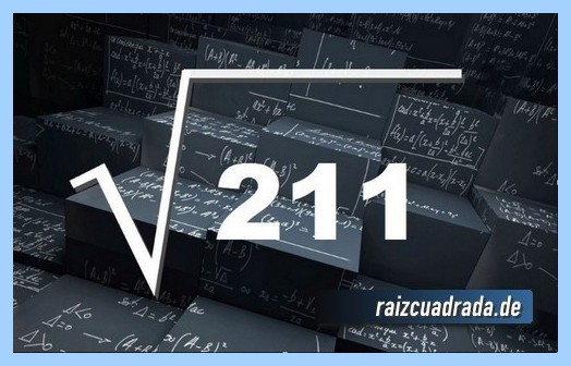 Como se representa matemáticamente la operación raíz de 211