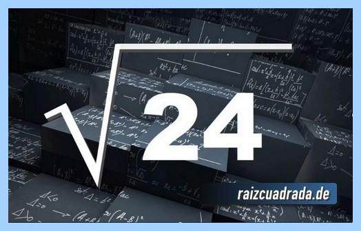 Forma de representar comúnmente la operación matemática raíz de 24