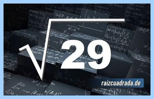 Representación frecuentemente la raíz de 29