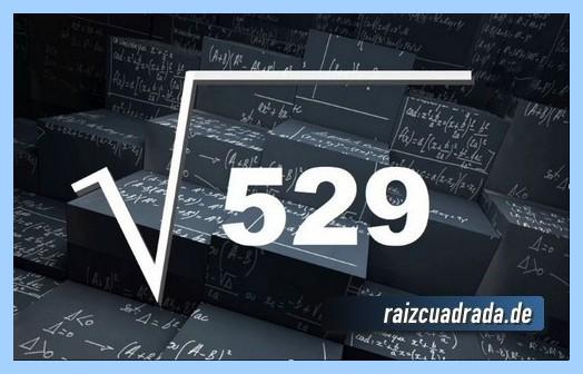 Forma de representar conmúnmente la operación raíz cuadrada de 529