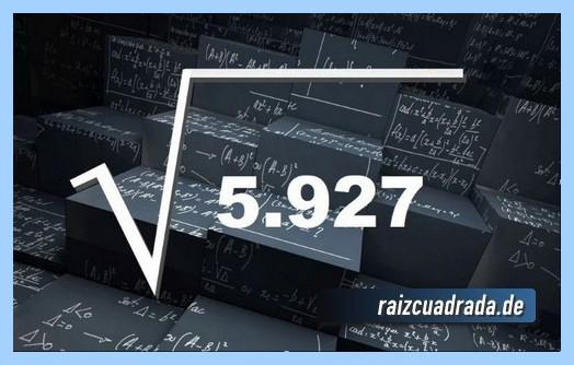 Representación comúnmente la operación raíz cuadrada de 5927