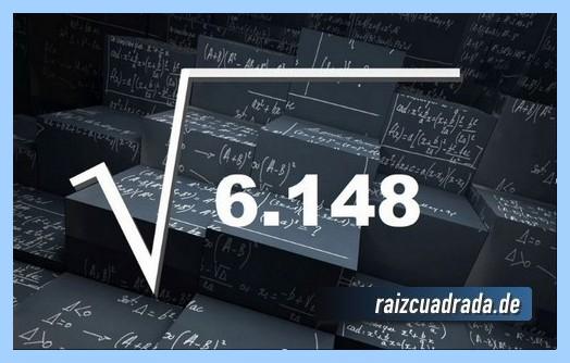 Forma de representar comúnmente la raíz cuadrada del número 6148