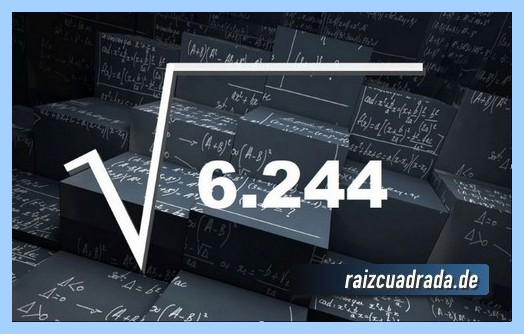 Forma de representar habitualmente la raíz cuadrada del número 6245