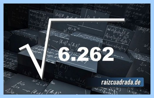 Representación comúnmente la raíz de 6262