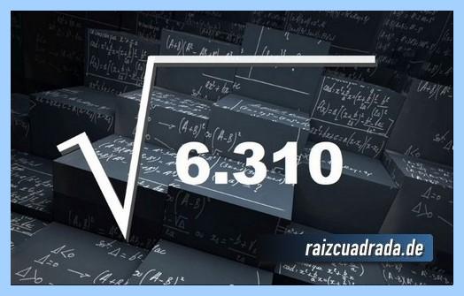 Forma de representar matemáticamente la operación raíz del número 6310