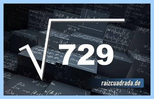 Forma de representar habitualmente la raíz del número 729