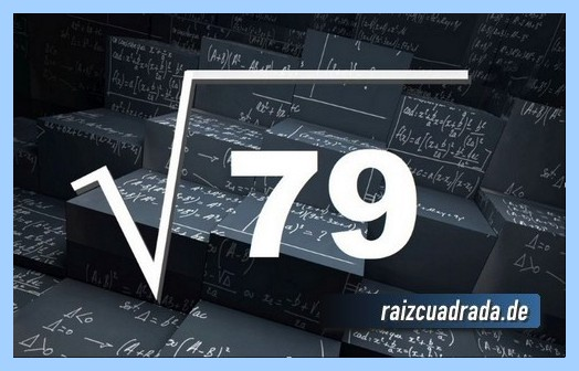 Forma de representar comúnmente la operación raíz del número 79