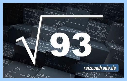Representación habitualmente la operación raíz del número 93