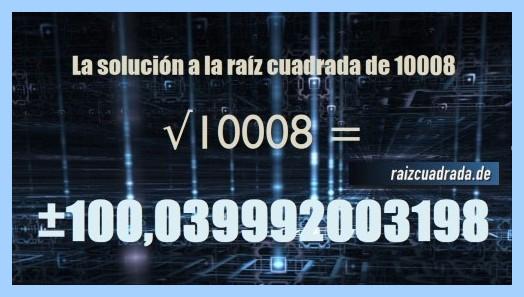 Número final de la operación raíz de 10008