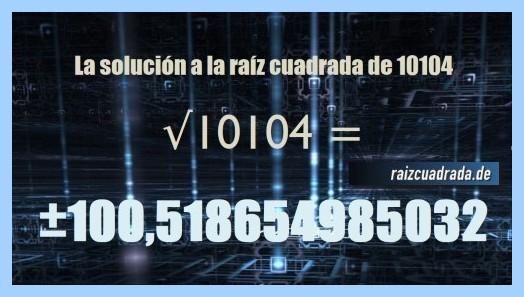Número obtenido en la raíz de 10104