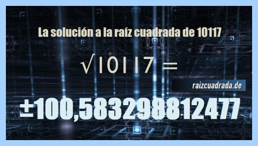 Solución final de la resolución raíz de 10117