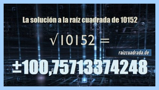 Solución obtenida en la resolución raíz de 10152