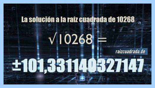 Número final de la raíz de 10268