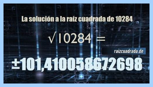 Solución final de la raíz del número 10284