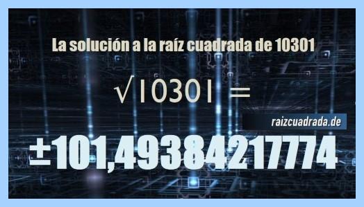 Solución final de la resolución operación raíz de 10301
