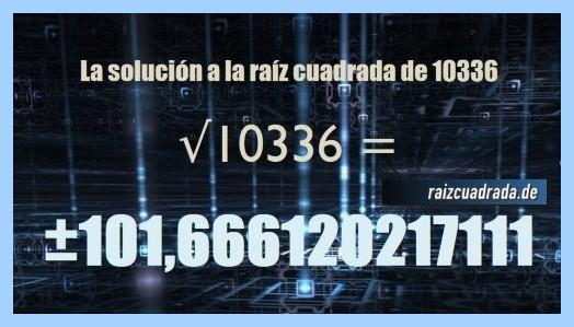 Solución conseguida en la resolución raíz cuadrada de 10336