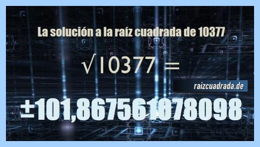Solución final de la resolución raíz cuadrada de 10377